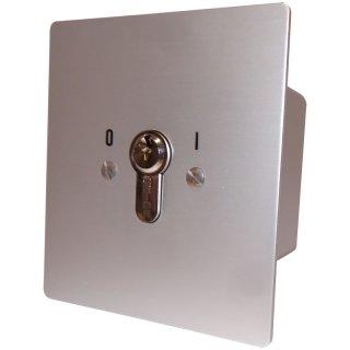 """Schlüsselschalter unter Putz mit PHZ,  1 seitig,  """"Rastend"""""""