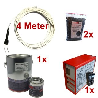(Set2) Induktionsschleife 4m, 1x Vergußmasse 3kg, 2x Abstreumaterial 1L, Auswerteeinheit 230V AC
