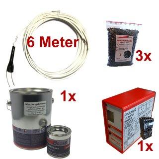 (Set4) Induktionsschleife 6m, 1x Vergußmasse 3kg, 3x Abstreumaterial 1L, Auswerteeinheit 230V AC