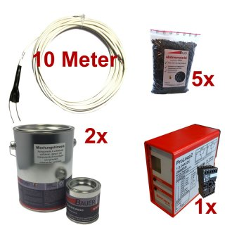 (Set8) Induktionsschleife 10m, 2x Vergußmasse 3kg, 5x Abstreumaterial 1L, Auswerteeinheit 230V AC