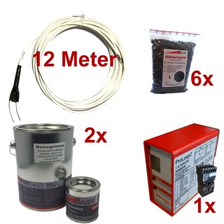 (Set10) Induktionsschleife 12m, 2x Vergußmasse 3kg, 6x Abstreumaterial 1L, Auswerteeinheit 230V AC