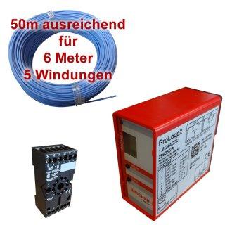 (Set4) Einzeldraht 6m, Auswerteeinheit 230V AC