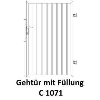 Gehtür C 1071, für private Zaunsysteme