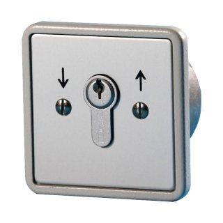 """Schlüsselschalter unter Putz 2 Schliesser, """"Tastend"""""""