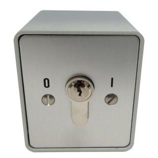 """Schlüsselschalter auf Putz mit PHZ,  1 seitig,  """"Rastend"""""""