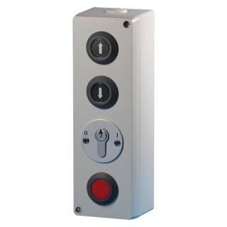 Schlüsselschalter AP Zu/Auf/Stop, Zylinder